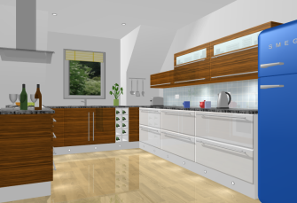 Kitchen Design 3D View