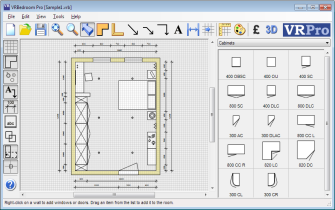 Bedroom CAD Software Interface