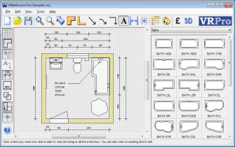 Bathroom CAD Software Interface